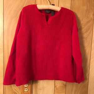 Crazy Horse Red Knit Sweater